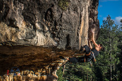 "Rock Climbing Photo: Katch on the ""home run"" of Pulse"