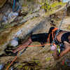 """Katch clipping before entering crux zone on """"Granit"""""""