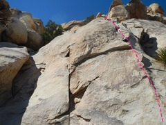 Rock Climbing Photo: Looking up from the base of Snake Oil