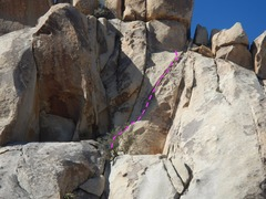 Rock Climbing Photo: Double Delight from the higher ledge