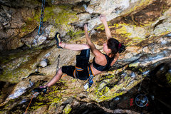 Rock Climbing Photo: I think this is after the bottom crux (?). Katch i...