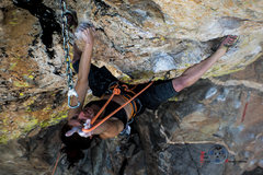 Rock Climbing Photo: Katch staying focused while clipping