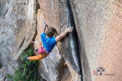 Rock Climbing Photo: Blake cutting loose on Shaman