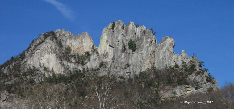 Rock Climbing Photo: south peak is the large summit  just right of the ...