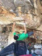 Rock Climbing Photo: Ross on the FA of Michelangelo's Beanbag (V5)