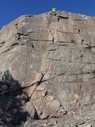 Rock Climbing Photo: The Middle Way topo