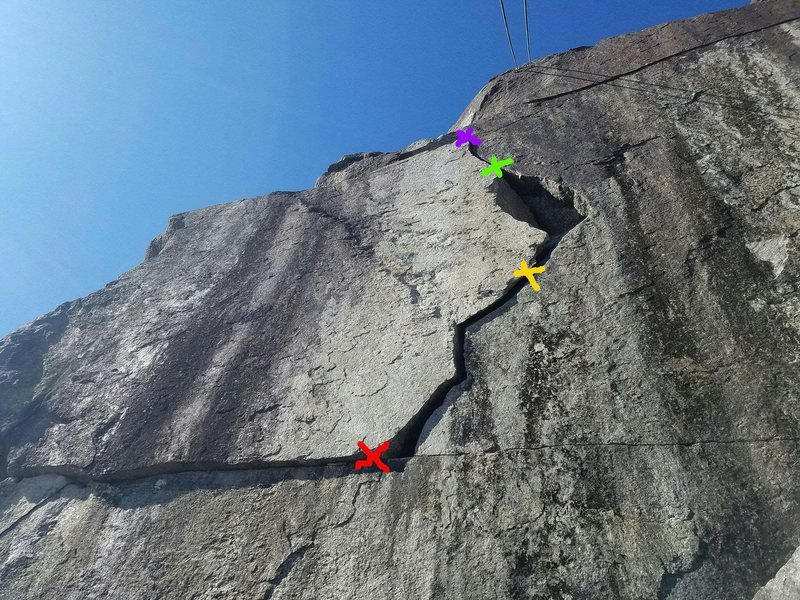 Rock Climbing Photo: If you do decide to lead the lightning crack there...