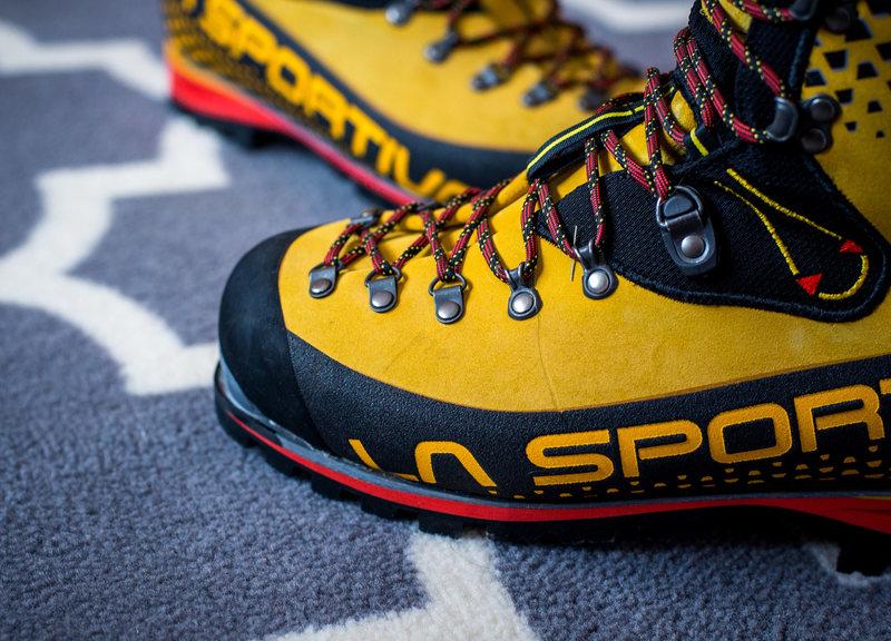 mark on left boot