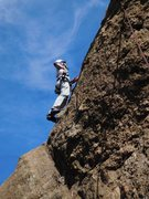 Rock Climbing Photo: Nearing the top of Capt. Morgan's.