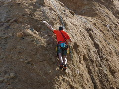 Rock Climbing Photo: 1st time climber to Texas Canyon nearing the ancho...
