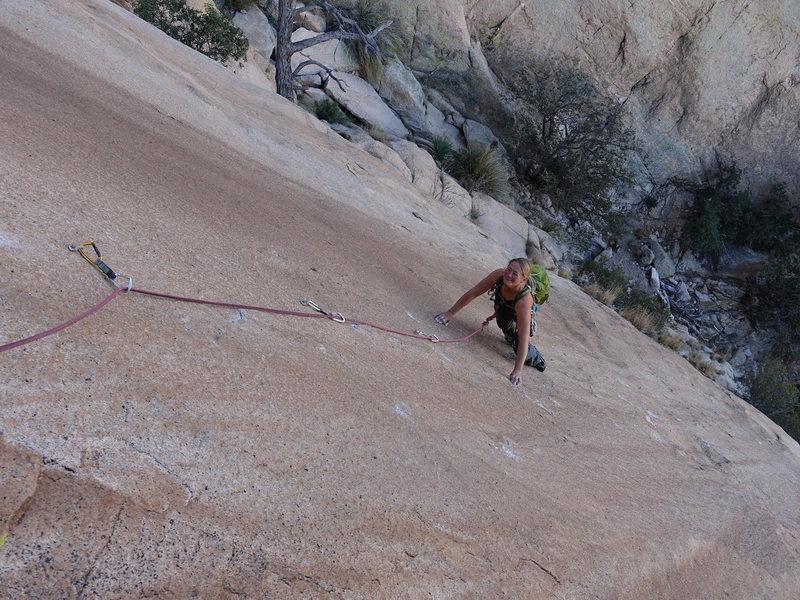 Rock Climbing Photo: Dede on P1
