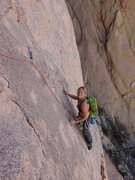 Rock Climbing Photo: Dede on P2