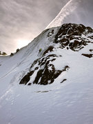 Rock Climbing Photo: right side gully climb.  Two pitches or combine wi...
