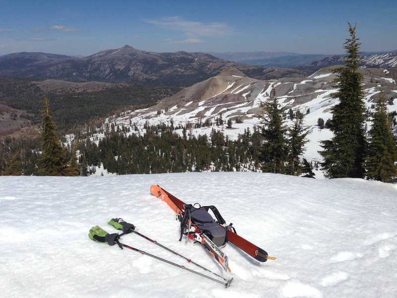 Rock Climbing Photo: Skis in action at Red Lake