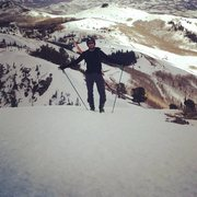Hiking in Utah with skis on my back!