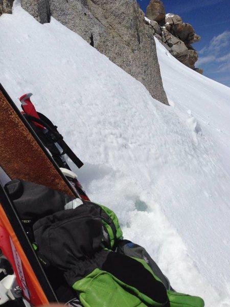 Skis up on False White!