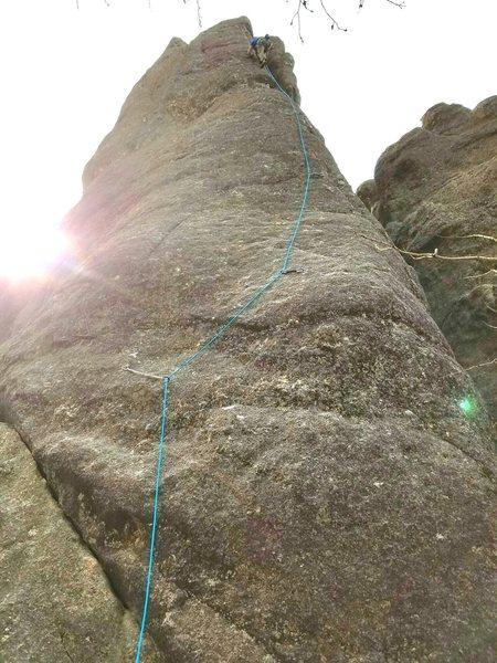 Michael Madsen nearing the top Kindergarten Rock.