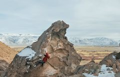 Rock Climbing Photo: Ain't but the one way V0+