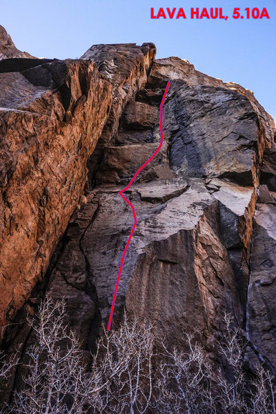 Rock Climbing Photo: Lava Haul, 5.10a. Flavin Haven Wall.