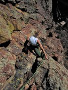 Rock Climbing Photo: Kat A. emerges from The Cave Pitch for a shot at T...
