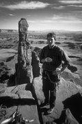 Rock Climbing Photo: Bryan Klahn on top of Washer Woman prior to bounci...