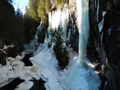 Rock Climbing Photo: So much ice at the Manitou! March 17th 2017.