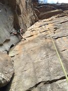 Rock Climbing Photo: I'm cleaning up after Kevin on his onsight of ...