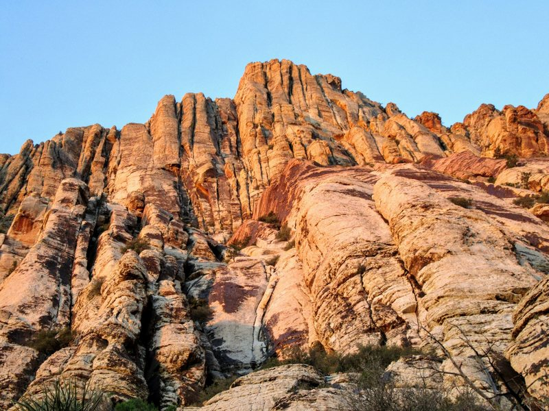 sunrise on the Labyrinth Wall, First Creek Canyon