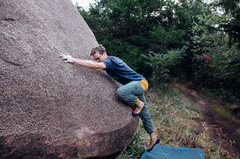Rock Climbing Photo: Preston on run and jump without the running and ju...