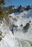 Rock Climbing Photo: Climber topping out Pilier central