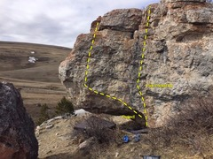 Rock Climbing Photo: Megacephaly boulder