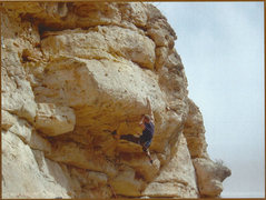 Rock Climbing Photo: Jesse wanted the first ascent sooo bad.  I think h...