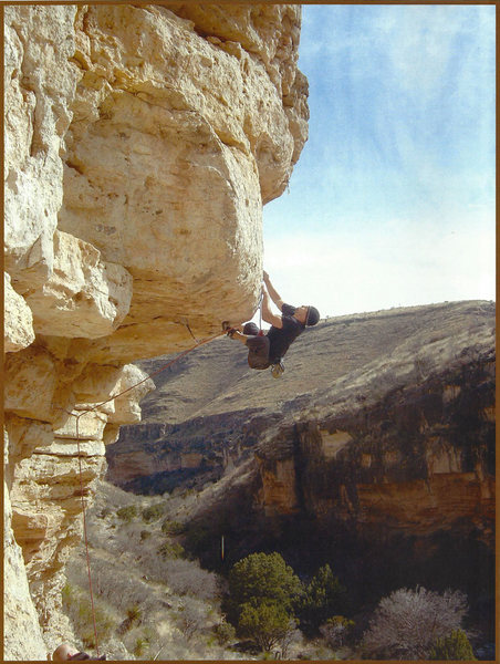 Rock Climbing Photo: Kevin Wilkinson FA of Hail Mary