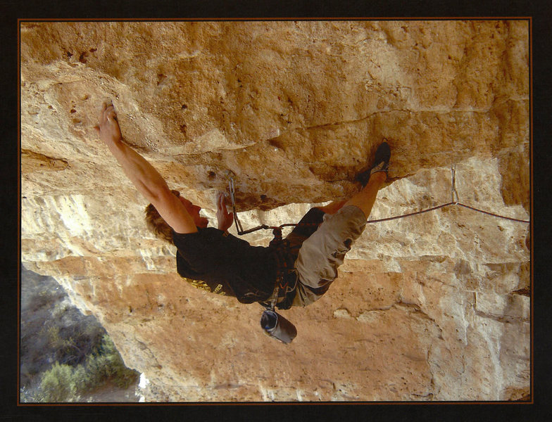 Rock Climbing Photo: Kevin Wilkinson working his project, Straight into...
