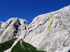 Rock Climbing Photo: Cerro Espejo. TTLG starts about halfway up the rig...