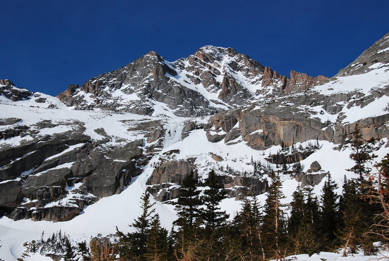 Rock Climbing Photo: McHenry's from the N. side of Black Lake, take...