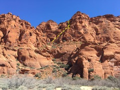 Rock Climbing Photo: Sand dunes showing Will's Rush