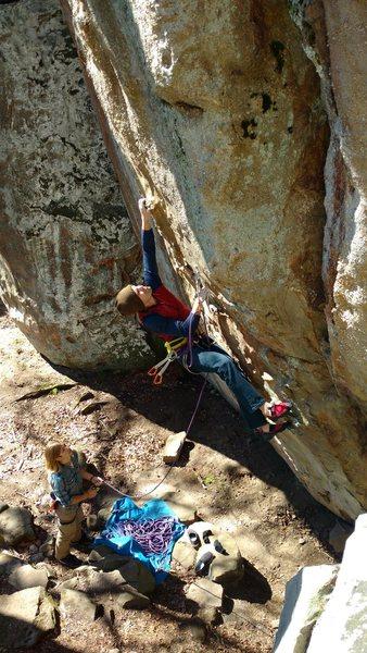 Rock Climbing Photo: Short climb, Big moves, Fun!