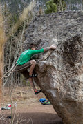 "Rock Climbing Photo: The ""Delicate"" topout with bed-head.  Ph..."