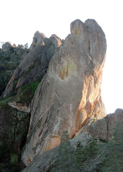 The north tower of Machete Ridge