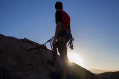 Rock Climbing Photo: Reaching the top just in time for sunrise!