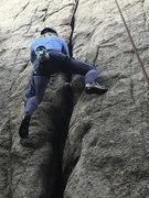 Rock Climbing Photo: Heidi cruising sidewinder