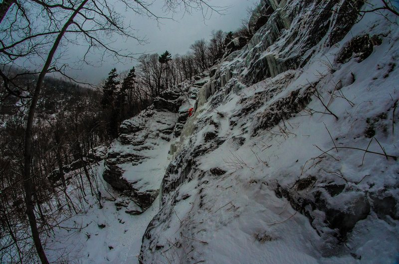 Rock Climbing Photo: Wide angle view of Jeff's.