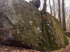 Rock Climbing Photo: The Flake, with the end marked