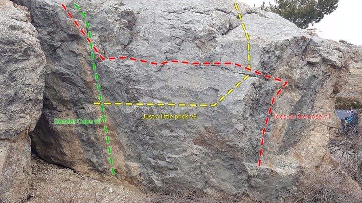 """Rock Climbing Photo: """"Little Prick"""" boulder routes"""