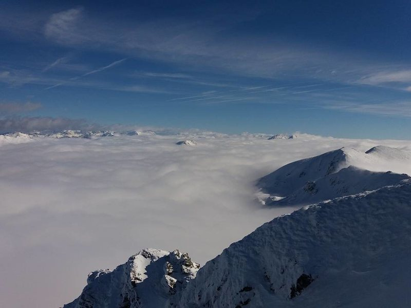 sea of clouds from the summit
