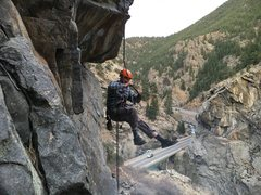 Rock Climbing Photo: Great route to learn prussik / self-rescue techniq...