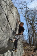 Rock Climbing Photo: Chris Hare charging up from the undercling start o...