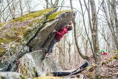 Rock Climbing Photo: Chris Hare jumping toward the goodness on Pop Shot