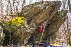 """Rock Climbing Photo: Aaron Parlier on """"Moonlight Sonata"""""""